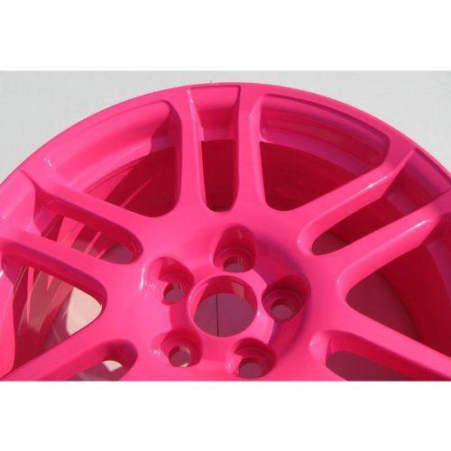 Neon Pink Powder Coated Rims https://www.thepowdercoatstore.com/products/neon-pink-powder-coat