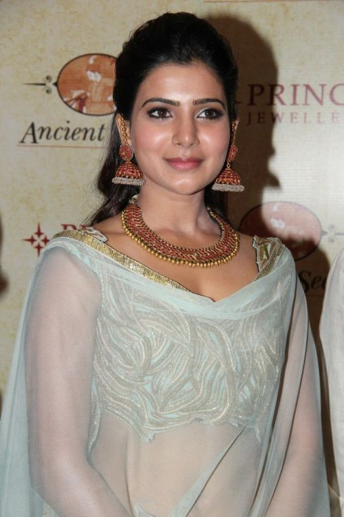 Actress Samantha Ruth Prabhu inaugurated Ancient Secrets Antique Jewellery Exhibition and Sale at Prince Jewellery at Chennai.