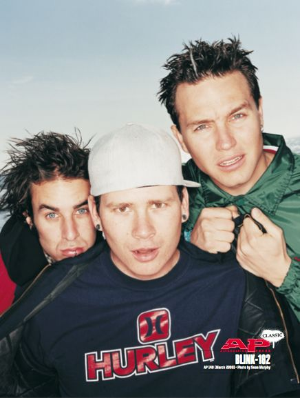 Blink-182 - seen in issue 294 (originally in issue 140 - March '00) - photo by Sean Murphy