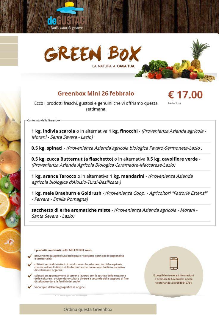 Greenbox mini ecco i prodotti freschi e genuini che offriamo questa settimana visita il nostro sito e acquista la tua greenbox nel formato che preferisci #degustaci #degustacicampania #mini #medium #maxi #bio #verdure #follow #shopping#food #foodporn #yum #instafood #TagsForLikes  #instagood #sweet #dinner #lunch  #fresh #tasty #foodie  #delicious #eating #foodpic #foodpics #eat #hungry #foodgasm #hot #foods