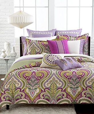 Master bedroom Echo Vineyard Paisley Queen Comforter Set . Would be pretty with thistle paint color !