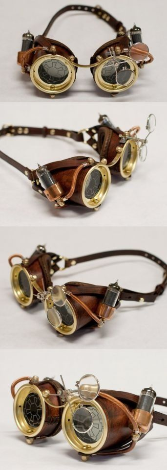 steampunk goggles...Anyone else notice the empire's symbol from Star Wars?
