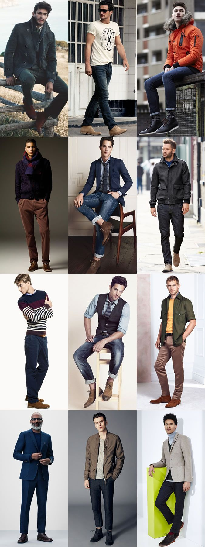 Men's Chukka Boots - Transitional Outfit Inspiration Lookbook