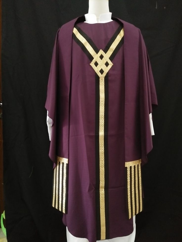 Purple chasuble with hand made stole