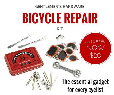WEEKLY SPECIAL: Gentlemen's Hardware Bicycle Repair Kit NOW $20 (was $23.95) - Every cyclist needs one of these... Only while stocks last.