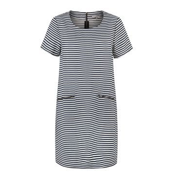 Jacquard Striped Tunic Dress