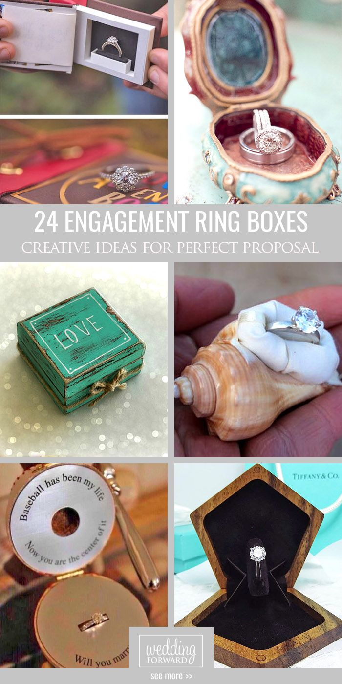 24 Creative Engagement Ring Boxes For Perfect Proposal ❤ We found beautiful and unique engagement ring boxes that you'll want immediately. See more: http://www.weddingforward.com/engagement-ring-boxes/ #wedding #engagement #ring #boxes