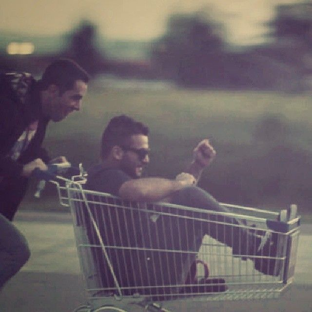 Steve & Ioannis on the trolley. See more backstage pics at http://instagram.com/idea_ninetynine #idea99