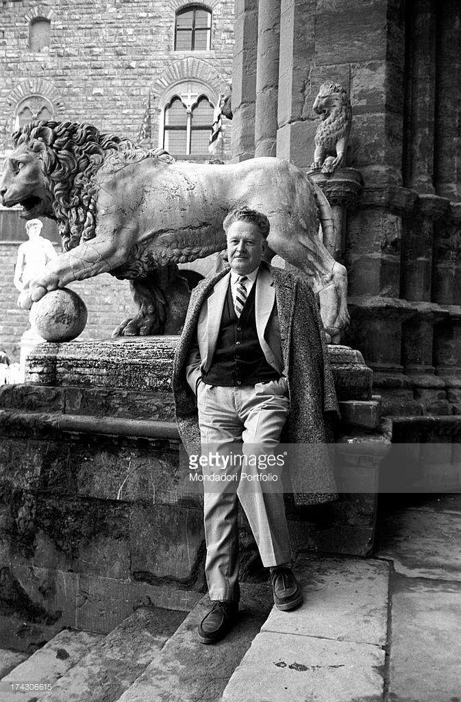 Nazım Hikmet, Uluslararası Yazarlar Kongresi için Mart 1962 yılında İtalya / Floransa'da.