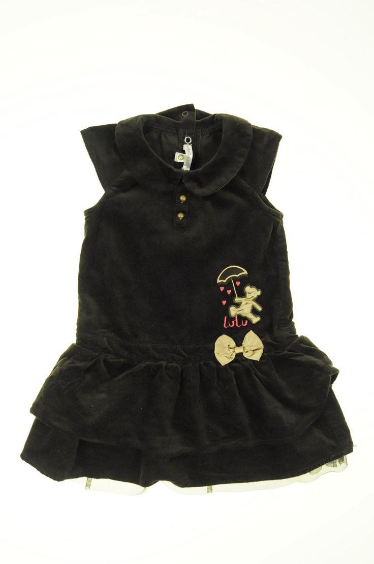 Robe en velours de la marque Lulu castagnette en taille 2 ans - Affairesdeptits vetement occasion enfant bebe pas cher