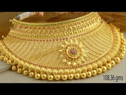 6152d1bc9 Latest Gold NECKLACE designs With WEIGHT | Gold Necklace HUGE Collections  2018-2019 - YouTube