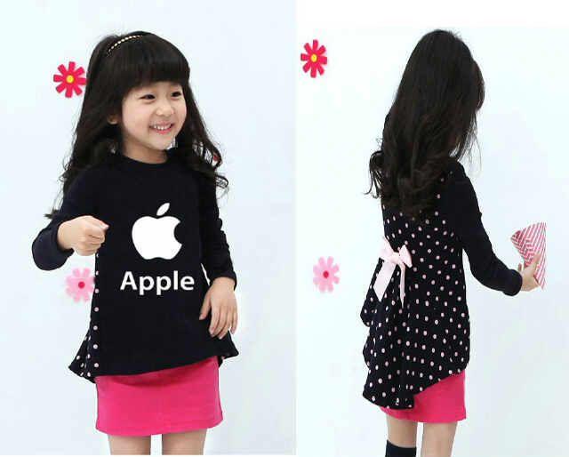2102 - Stelan Apple Bahan : Katun Kaos Adem Size L untuk umur 5-7 Tahun  Harga Seri  :@Rp 47.000 Harga Ecer :@Rp 57.000