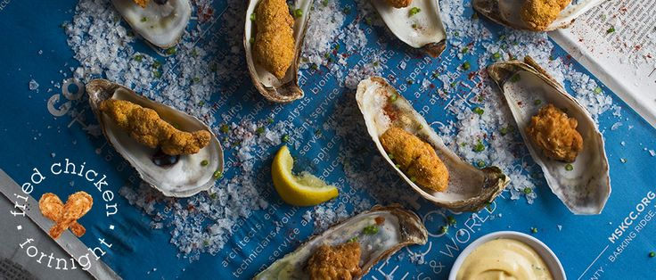 Fried Oysters with Spicy Mayonnaise  Learn to make chicken oysters and chicken-fried oysters.