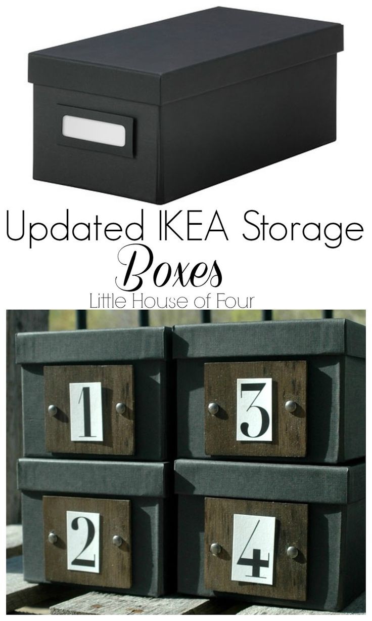Turn ordinary IKEA boxes into custom storage.