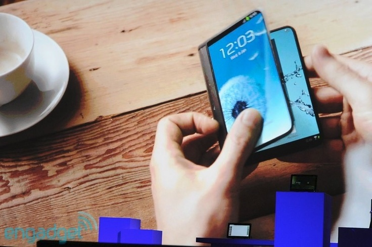 samsung flexible oled display..... I read that the Samsung Galaxy lV might have this display
