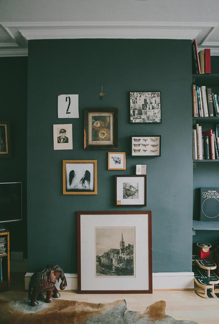 I love the idea of having large picture frames resting on the floor.