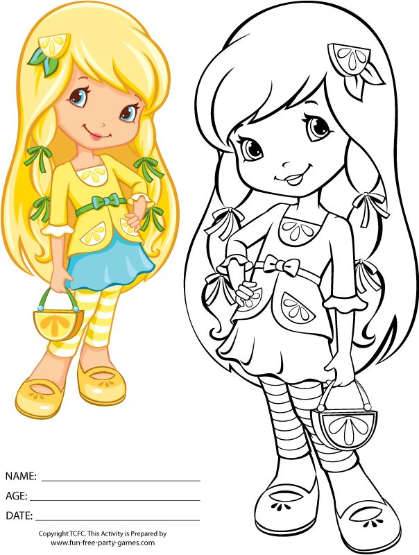 coloring pages strawberry shortcake lemon meringue 2009 05