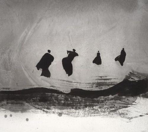 Gao Xingjian, « Danse », encre de chine, 2013 via https://twitter.com/GroupeDiaclase/status/464803701665067008