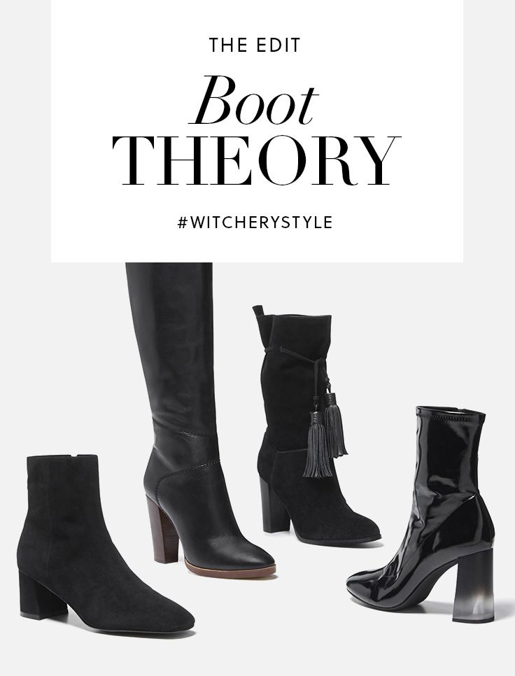 Boots are this season's statement shoe is all about midi length and block heel to talk to the 70's retrospective. #witcherystyle