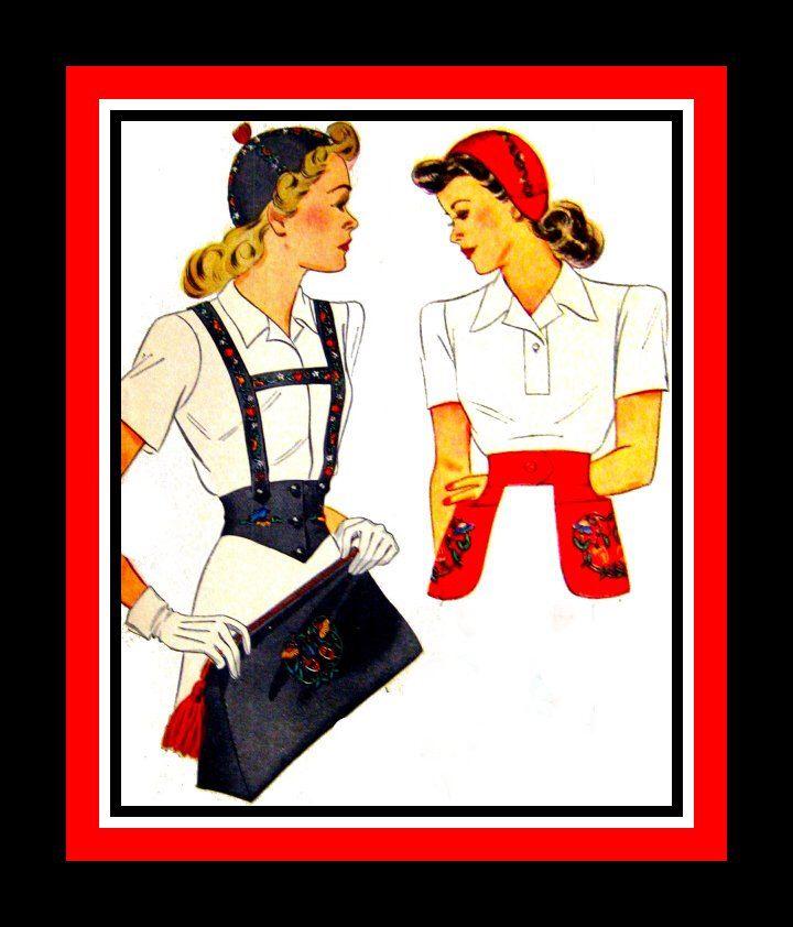 Vintage anni ' 40-accessori moda-Calot - Pattern di cucito-cintura - borsa - cappello - Dickey-reggicalze - floreale - uccello-cuore-ricami Transfer-raro di FarfallaDesignStudio su Etsy https://www.etsy.com/it/listing/129116162/vintage-anni-40-accessori-moda-calot