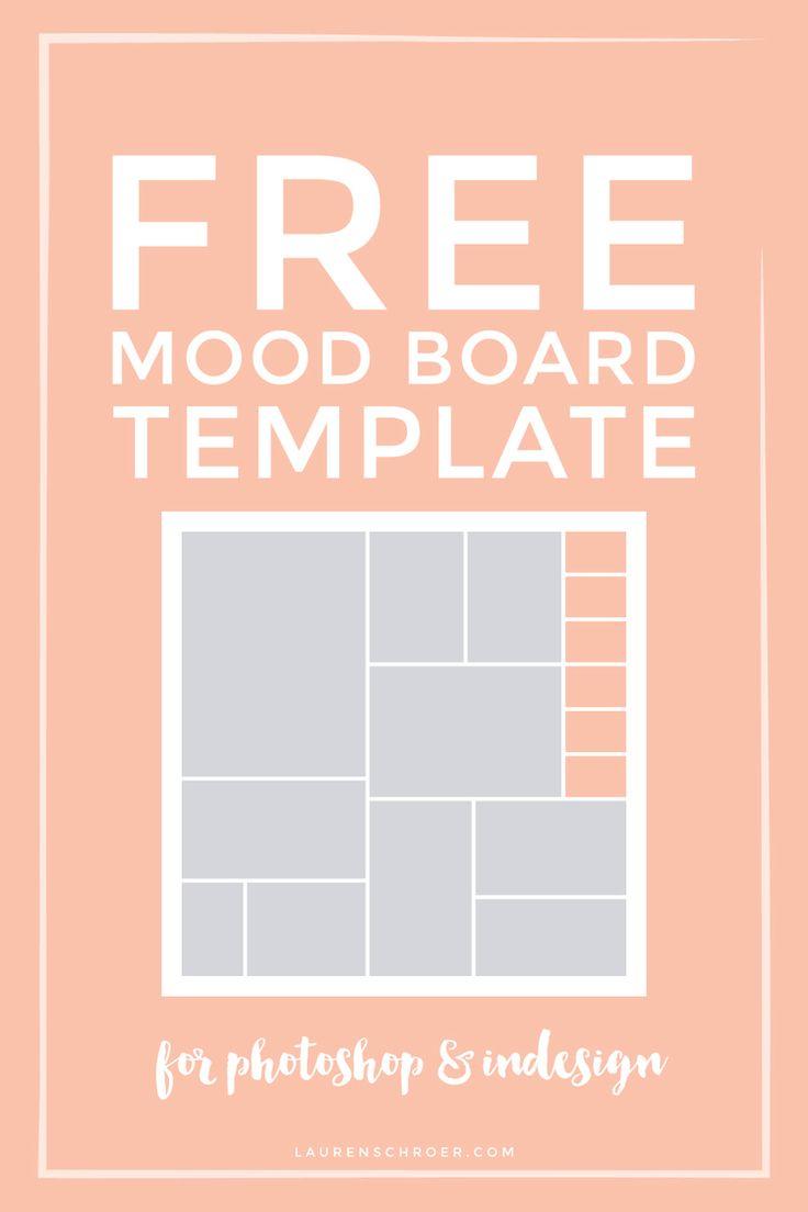 Free Mood Board Template — Lauren Schroer   Graphic Designer & Blogger