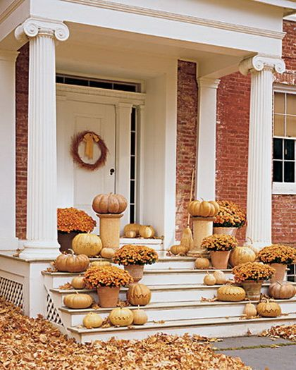 fall outdoor decor: Fall Front Porches, Fall Decor, Doors Design, Color, Design Ideas, Beautiful Fall, Decor Ideas 05, Best Fonts, Decorating Ideas 05