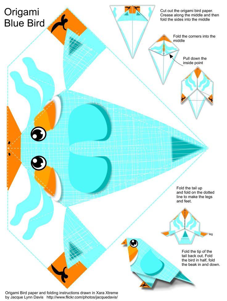 Toutes les tailles | Origami Blue Bird Instructions and Paper | Flickr: partage de photos!
