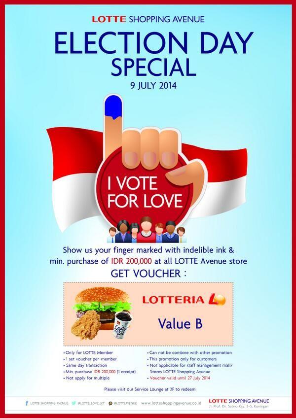 Lotte Shopping Avenue: Promo I Vote For Love @LOTTE_LOVE_JKT