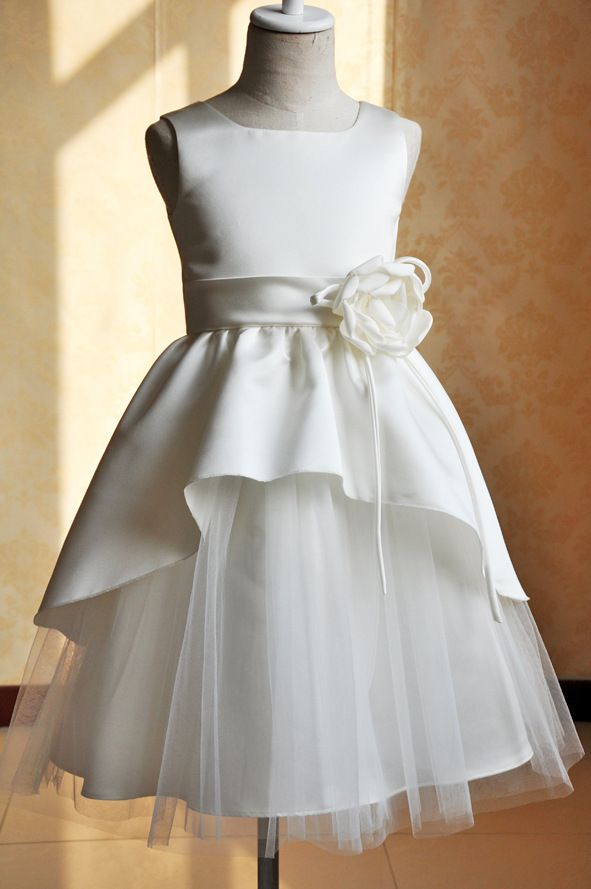 Free Shipping UK&US fashion Beautiful costumes Bespoke 2014 children Flower Girl Dresses Gown Haute couture custom-made