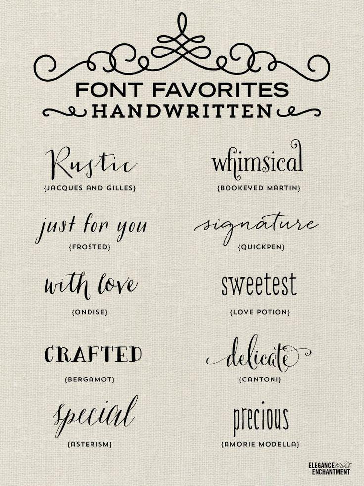 25 Best Ideas About Handwritten Fonts On Pinterest
