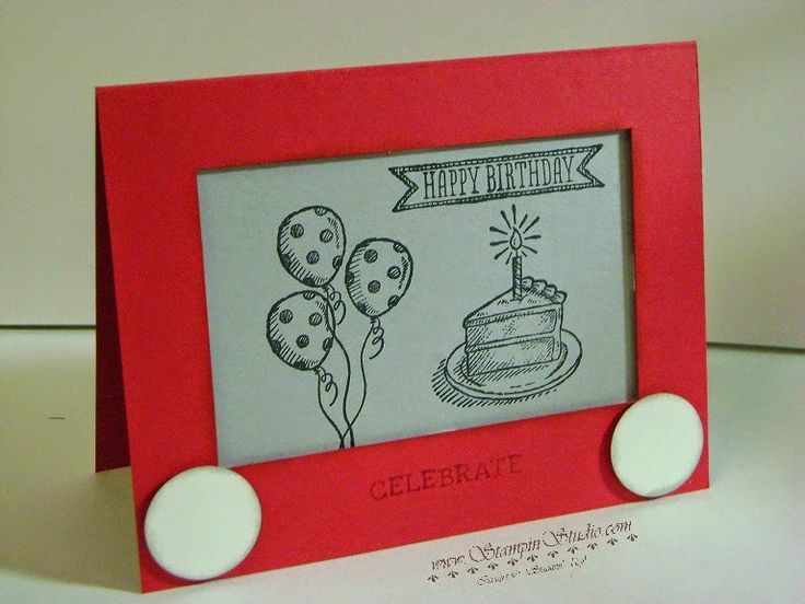 Stampin' Studio, Stampin' Up! Sketched Birthday, Etch-a-sketch card