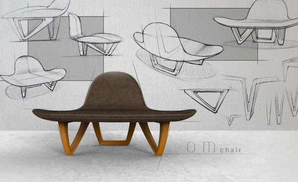 om chair ideation with final product