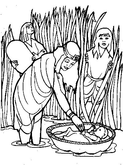 moses in bulrushes coloring pages - photo#18