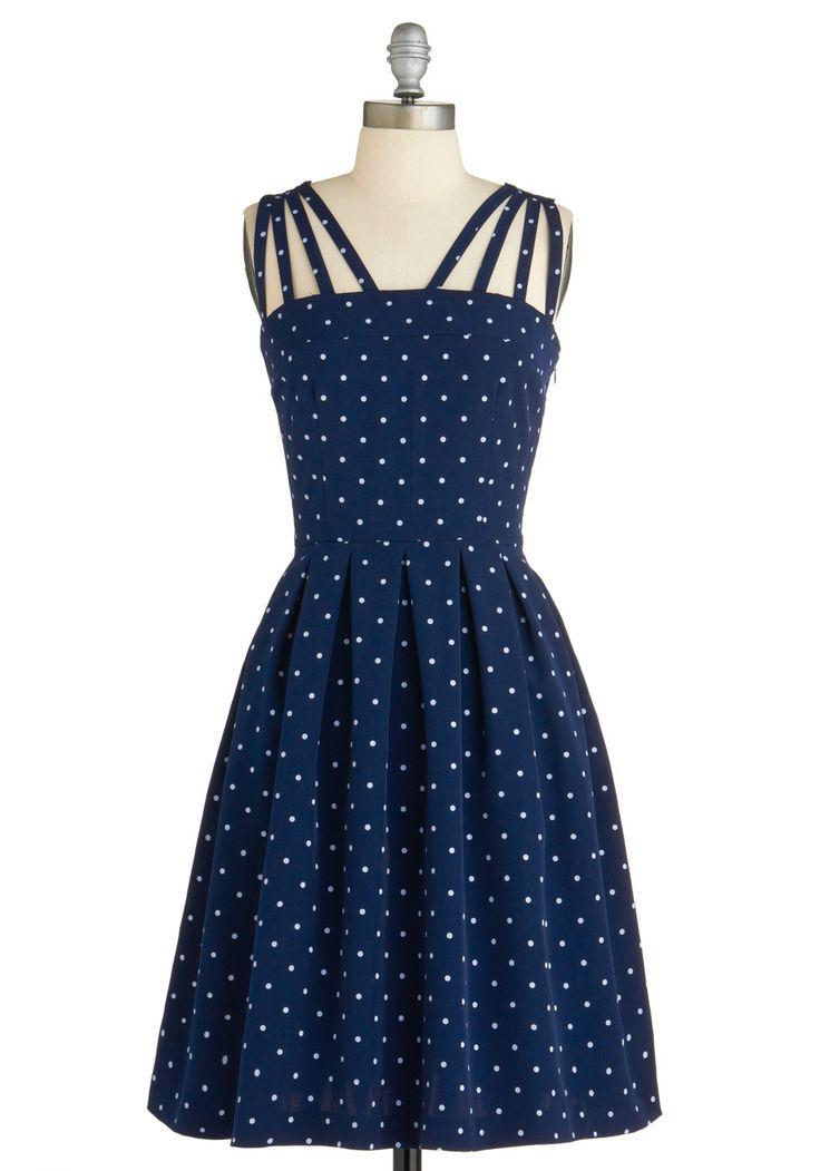 In the Mood for Dots Dress: Summer Dresses, Fashion, Polka Dots Dresses, Bridesmaid Dresses, Modcloth, Retro Vintage Dresses, Polka Dots Parties, Vintage Inspiration, Blue Polka Dots