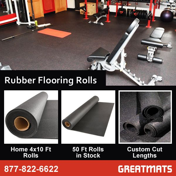 Rubber Flooring Rolls Are Great For Covering Large Gym Or Weight