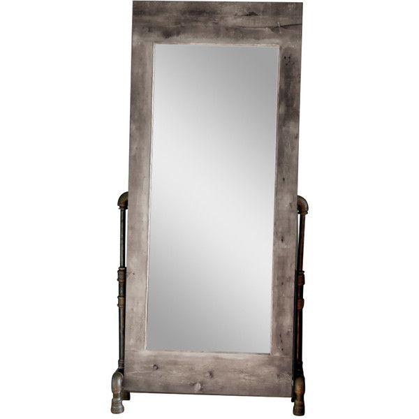 the farm mechanic grey wash wood frame mirror 8760 dkk liked on polyvore wood mirrorframe mirrorsfull length - Wood Frame Full Length Mirror