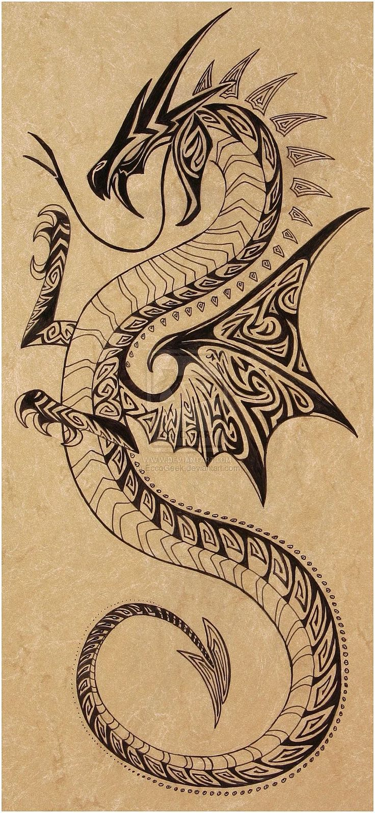 #TattooSymbolism #Tattoos Image result for norse sea serpent tattoo, click for m… #Tattoos