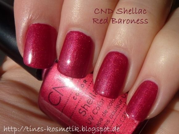 CND Shellac Red Baroness | nails | Pinterest