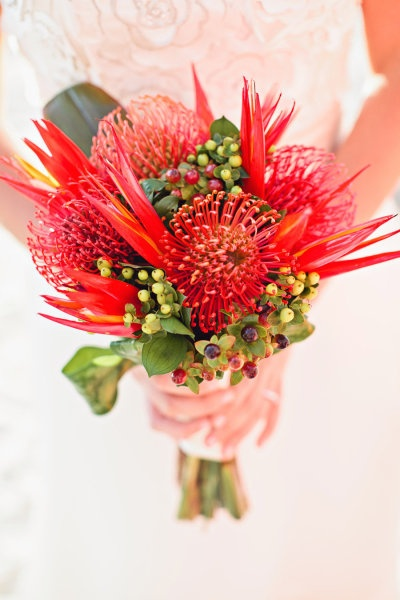 Your bridal bouquet does not have to be huge to be amazing! Select flowers that will make a statement!