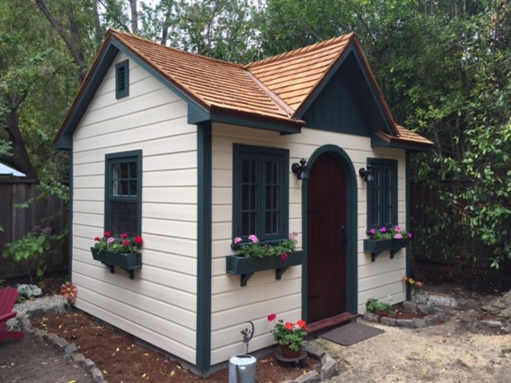 this larger garden shed is capped with a cupola simple and classy