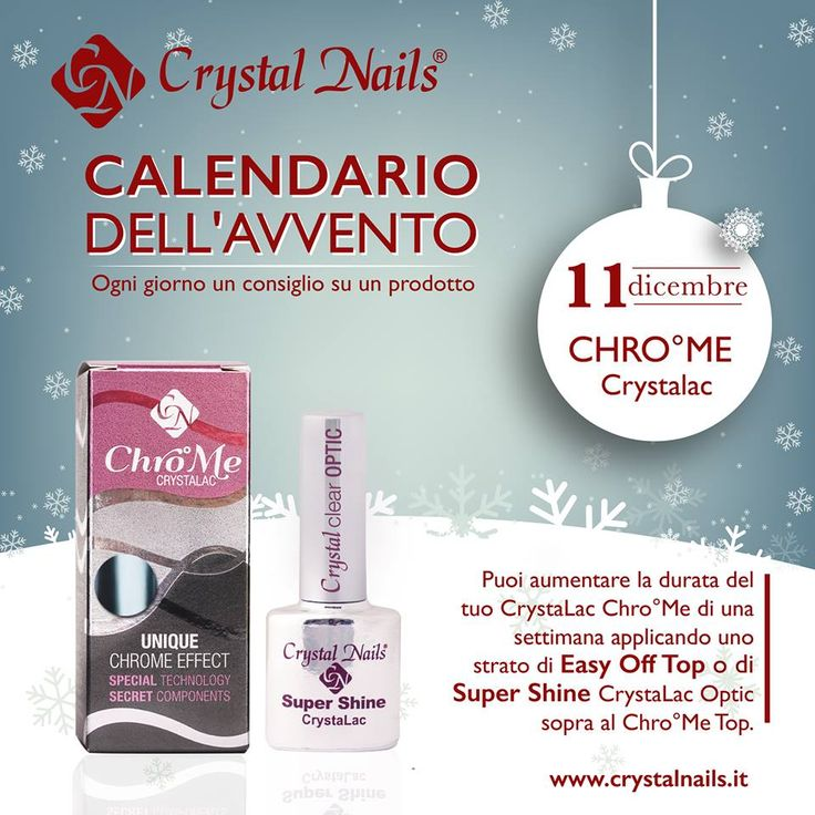 Calendario dell'avvento Crystal Nails - 11 dicembre #chrome #crystalac #cristalnails #smaltosemipermanente #christmas