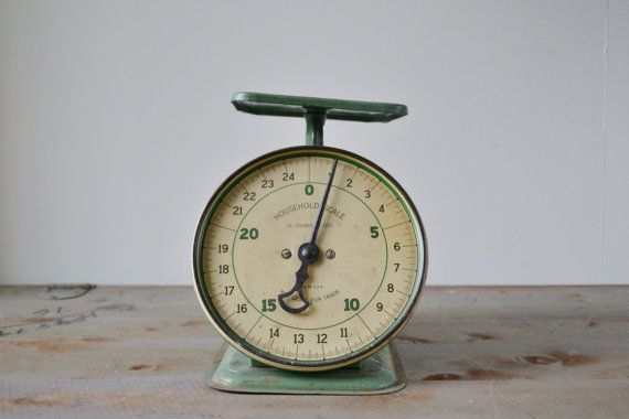 Vintage Household Kitchen Scale - Industrial Decor