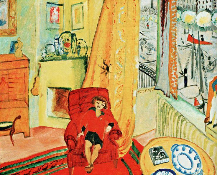 Sigrid Hjerten (1885-1948): Ivan in the chair. Sigrid Hjertén, was a Swedish modernist painter. Hjertén is considered a major figure in Swedish modernism.