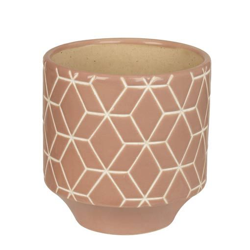 Dusky Pink Carved Pot http://www.koop.co.nz