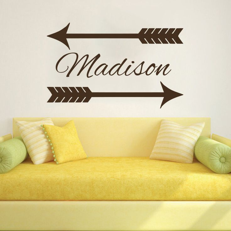 Wall Decal Name Girls Vinyl Sticker Personalized Custom Decals Art Home Decor Mural Wall Decals Nursery Baby Arrow Wall Decal Art AN720 by TrendyWallDecals on Etsy https://www.etsy.com/listing/233832033/wall-decal-name-girls-vinyl-sticker