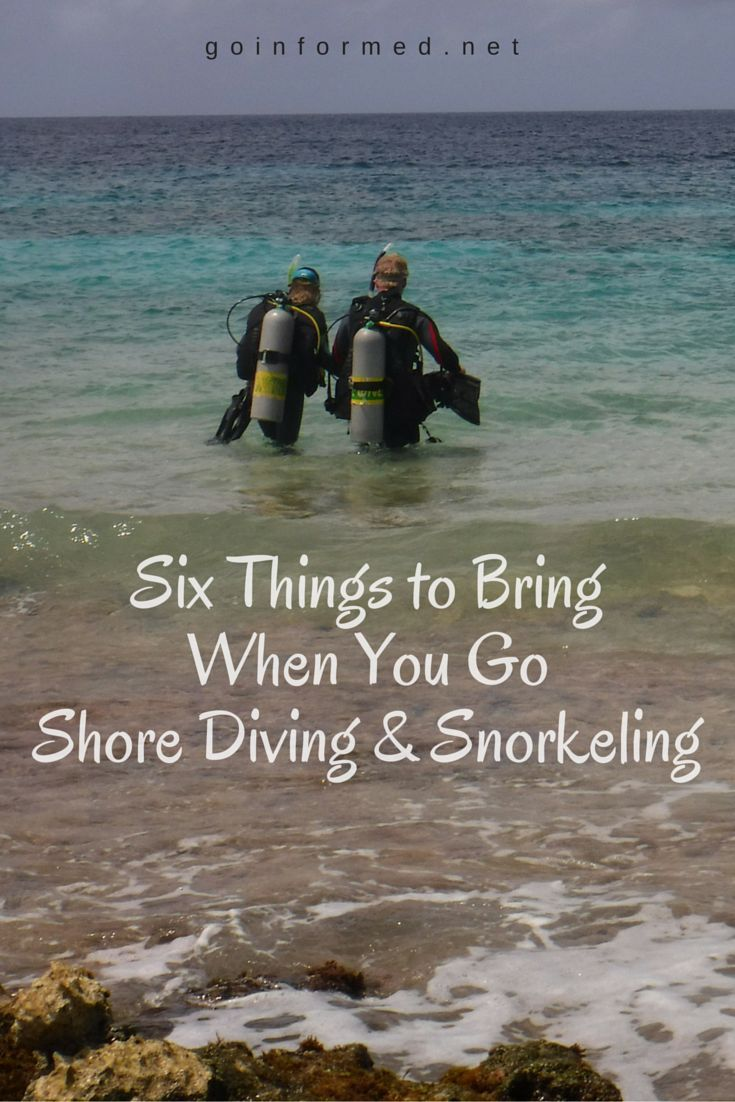 Six essential supplies you should bring when you go shore diving or snorkeling.