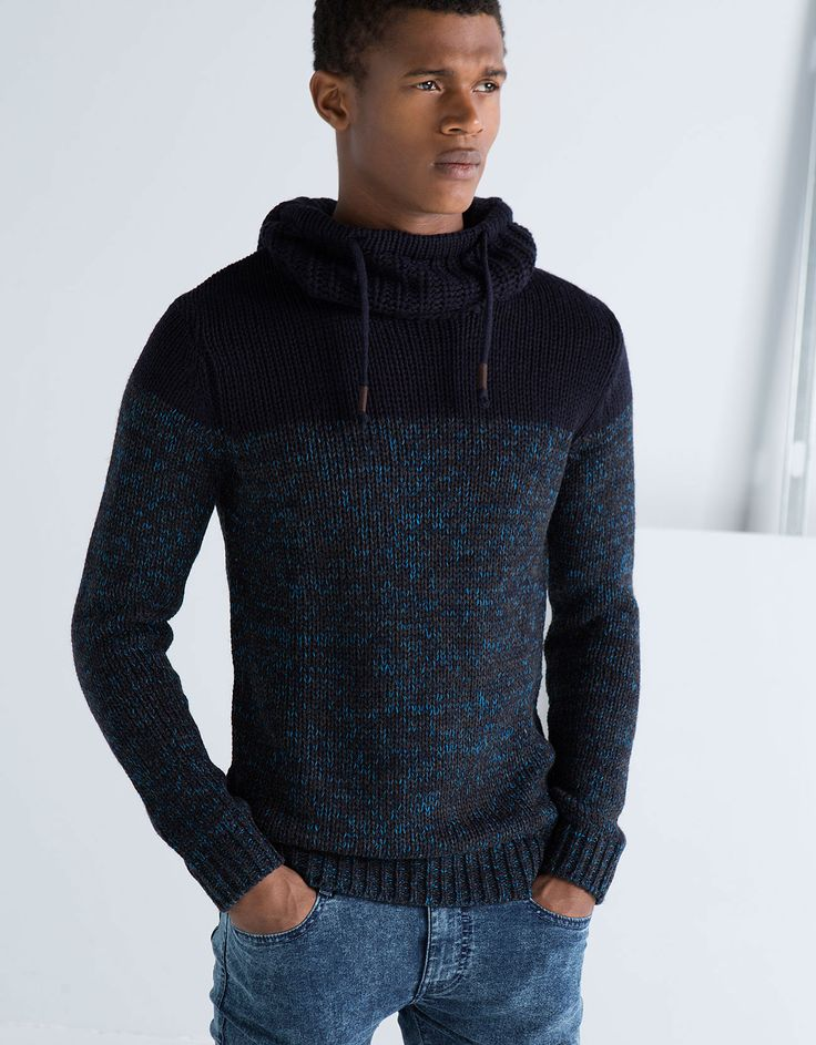 Bershka Deutschland -Pullover zweifarbig mit Kapuze