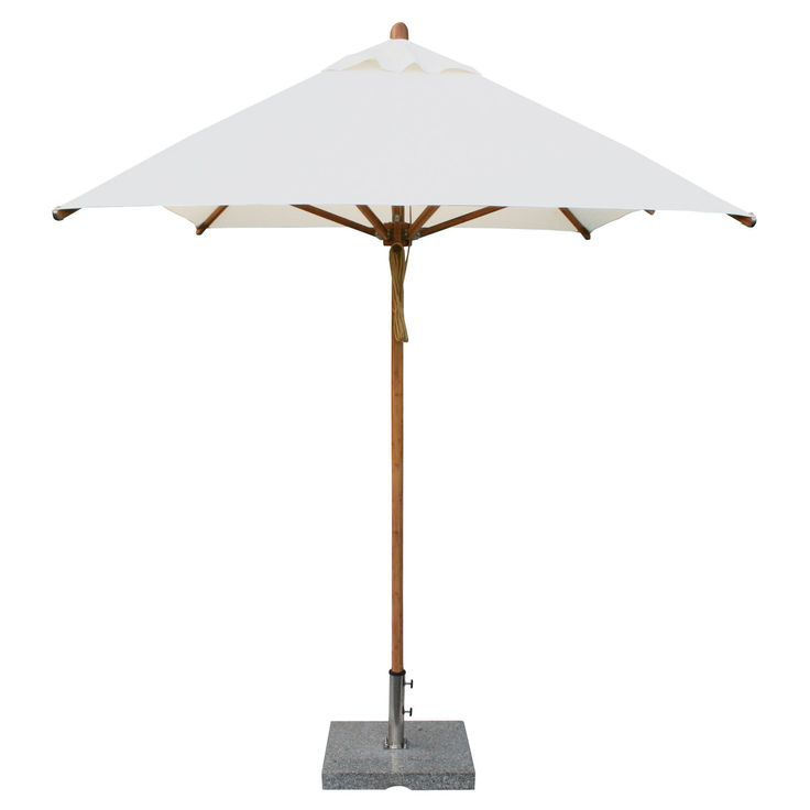 Rectangular Bamboo Market Patio Umbrella With 2 In.