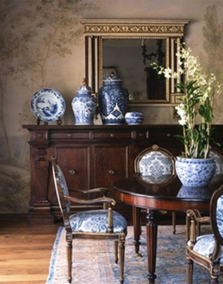 La porcelana azul y blanca fue la preferida por los ingleses y po ende por los americnos de Nueva Inglaterra.