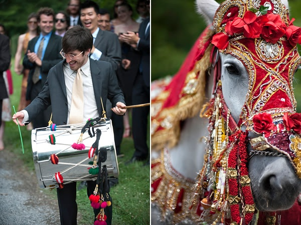 Colorful Indian And Jewish Wedding With A Fabulous Parade